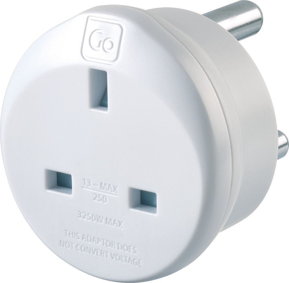 Go Travel Earthed Uk To South Africa Compact Adaptor Converter Adapter Ref 530